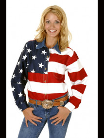 "Womens Western Shirt - ""Patriot"""