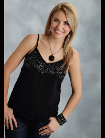 Womens Western Tank Top - Moon Dreams
