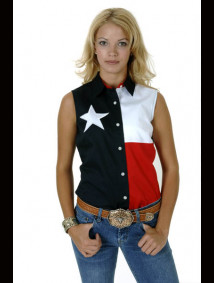 "Womens Sleeveless Western Shirt - ""Texas"""