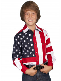 Boys Western Shirt - Patriot II