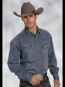 Stetson Mens Western Shirt - Blue Lagoon