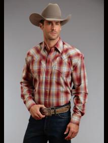 Stetson Mens Cowboy Shirt - Wapiti