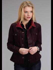 Stetson Womens Western Jacket - Wild Cherry