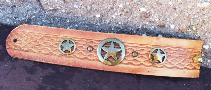 Eagle Texas Star Leather Cuff