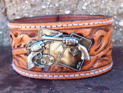 Revolver Leather Cuff