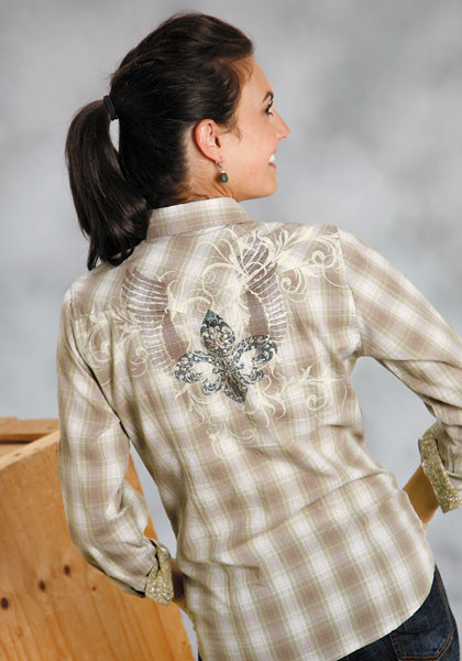 Winged Fleur De Lis : Ladies Western Style Shirt