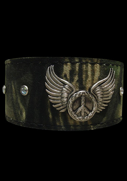 Peace Sign & Wings Cuff