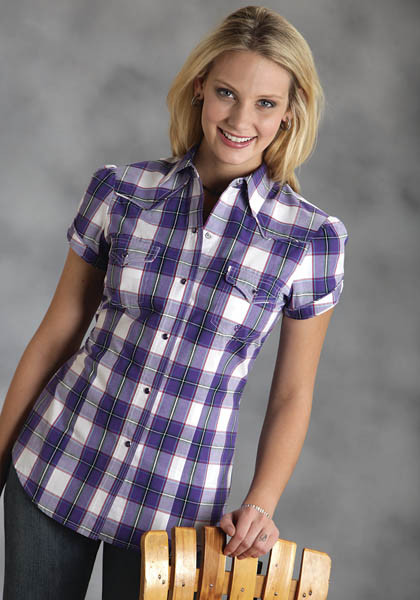 Purple Pops! : Ladies Cowgirl Shirt