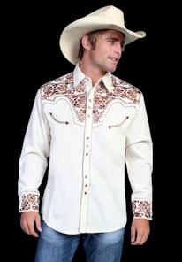 Mens Off White Dress Shirt