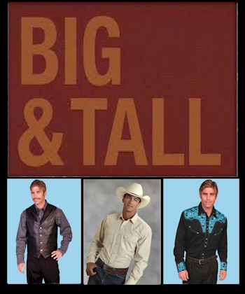 men wearing big and tall western shirts