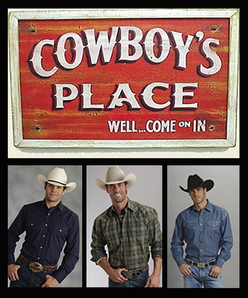 Cowboys wearing western shirts and vests