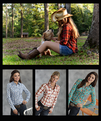 Long Sleeve Western Shirts being worn by cowgirls