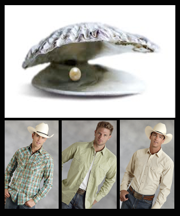 men wearing different kinds of pearl snap shirts