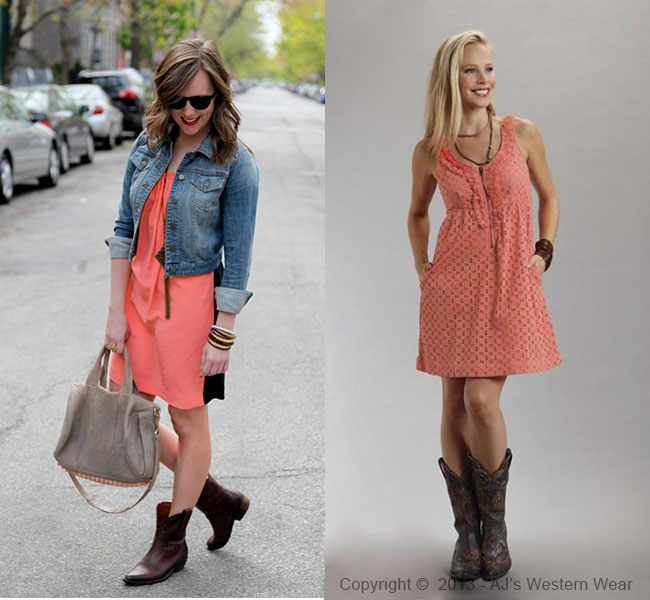 Dresses to Wear with Cowboy Boots