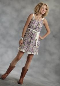 Floral Georgette Western Dress