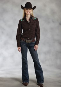Women's Western Embroidered Shirt