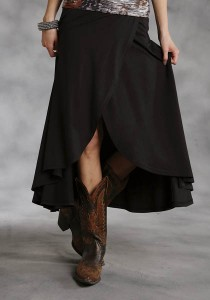 Full Sweep Cowgirl Wrap Skirt