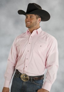 Pink Men's Western Snap Shirt