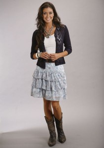 Short ruffled cowgirl skirt