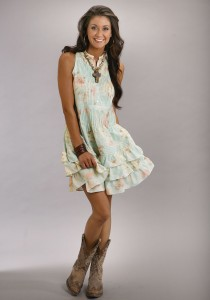 Empire Waist Cowgirl Dress