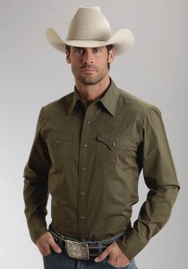 """Olive"" Cowboy shirt by Stetson®"
