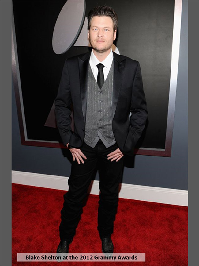 Blake Shelton at the 2012 Grammys