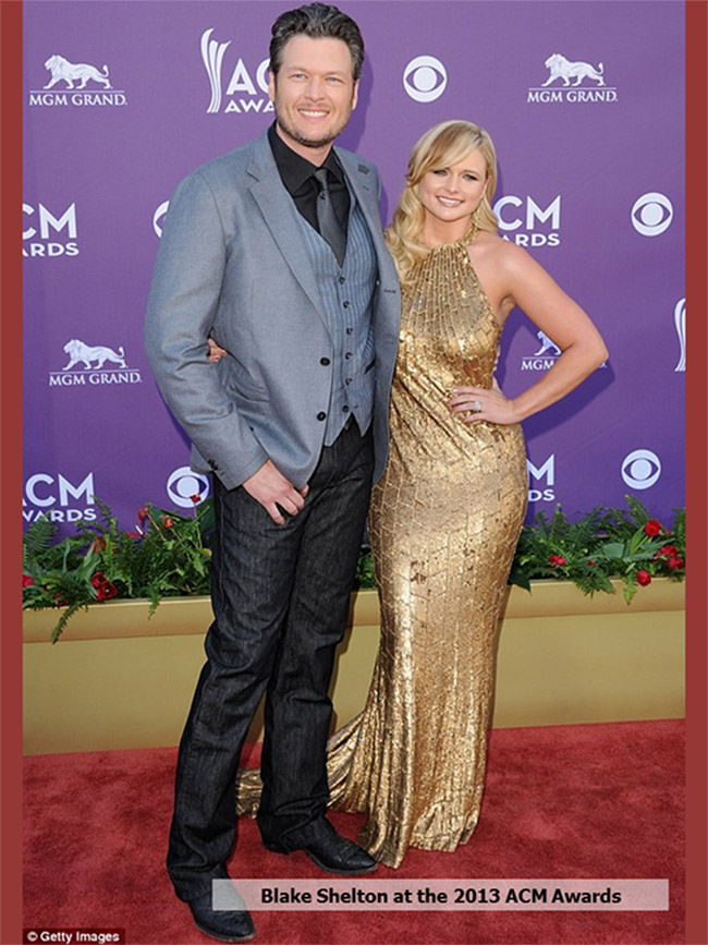 Blake Shelton at the 2013 ACM Awards