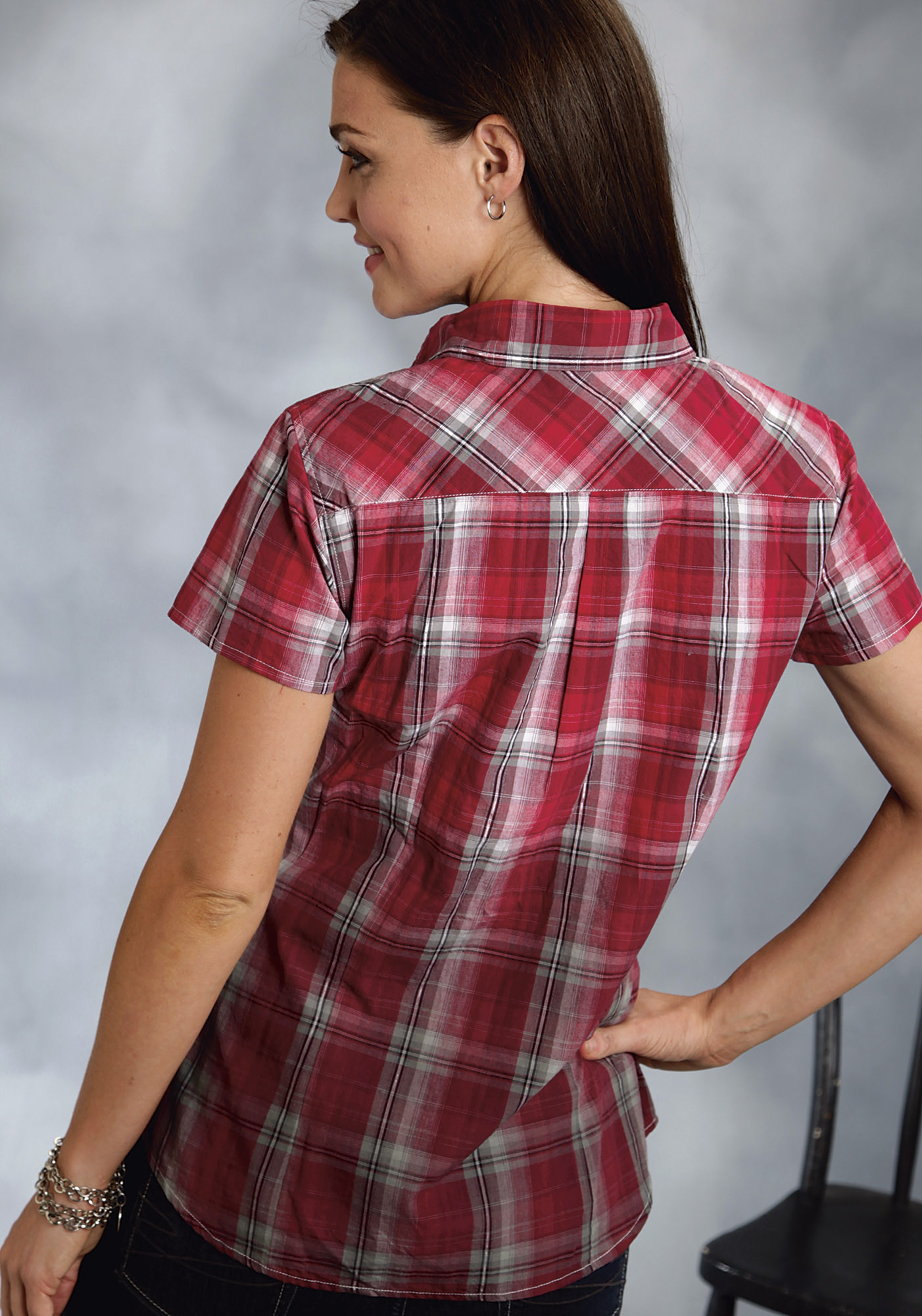Mens Red Western Shirt